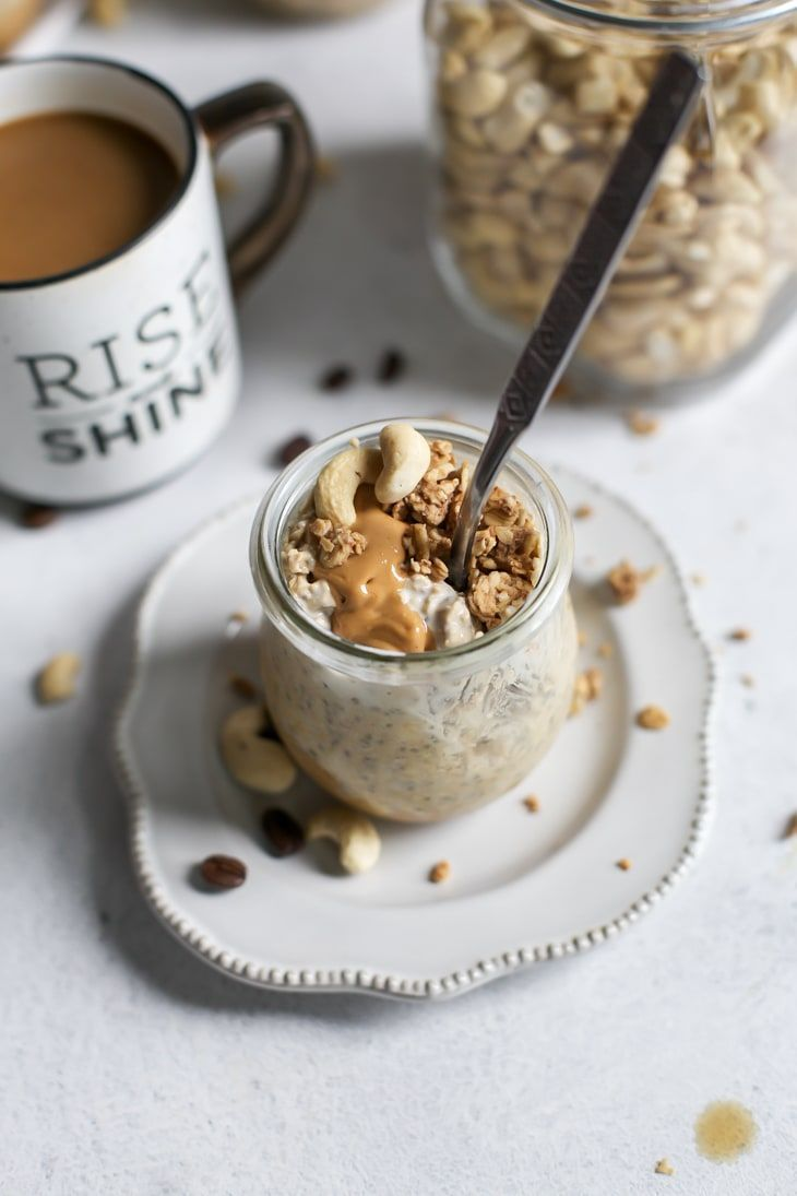 Creamy Coffee Cashew Butter Overnight Oats