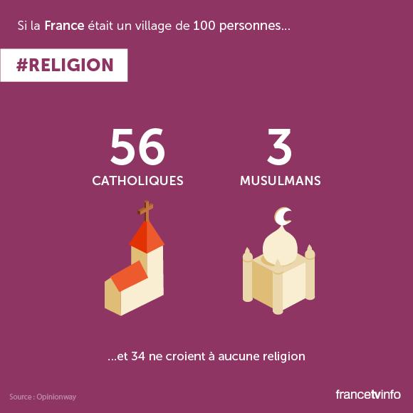 EN IMAGES. Si la France était un village de 100 habitants