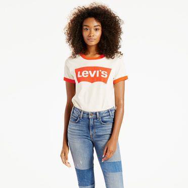 Levi s Orange Tab Ringer Surf Tee T-Shirt - Women s 31x34   Products ... 9b870ec882b