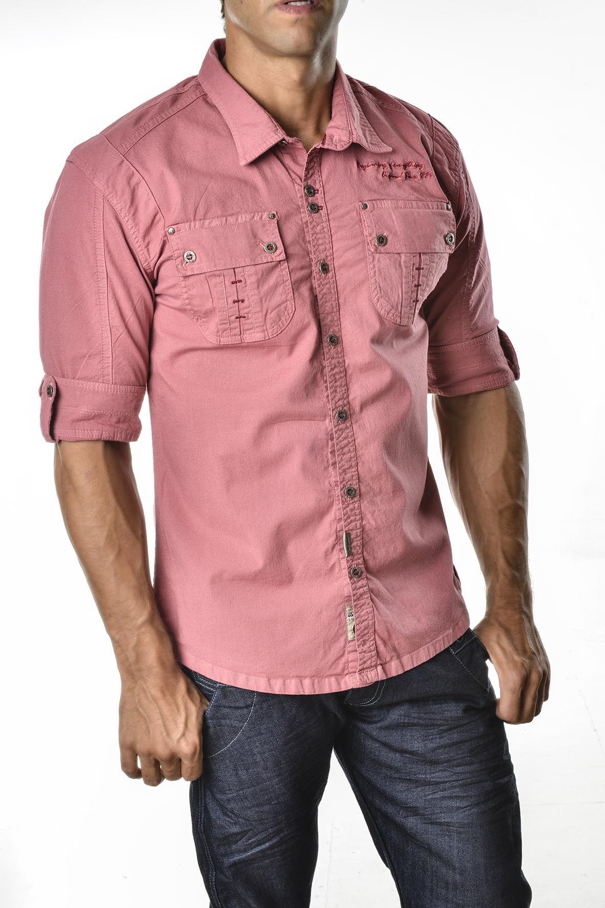 camisa-manga-tres-cuartos-para-hombre-for-men- three-quarter-sleeves Sexy 1f35021e3f551