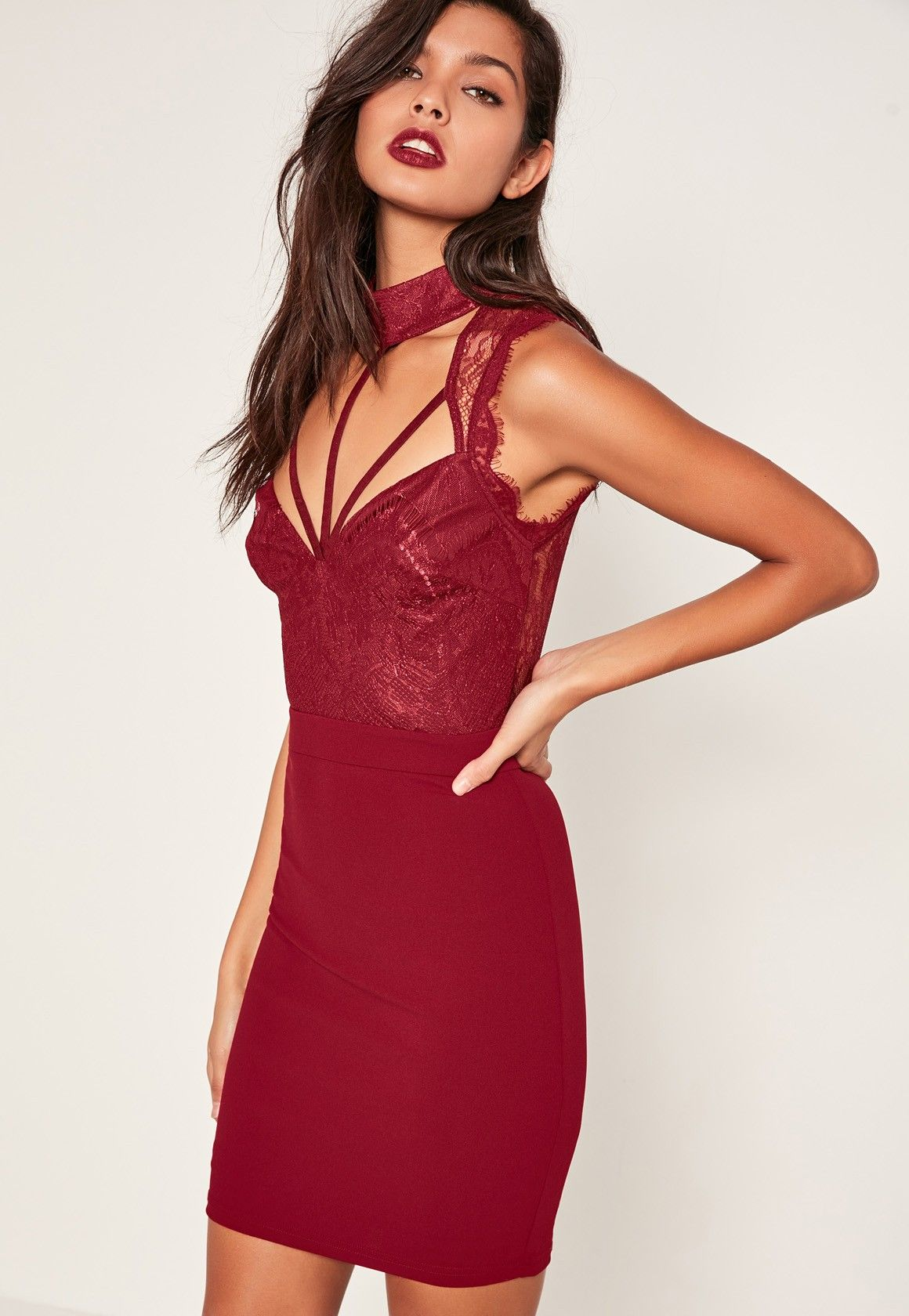 This gorgeous bodycon dress in a saucy red is a the top of our lust ...