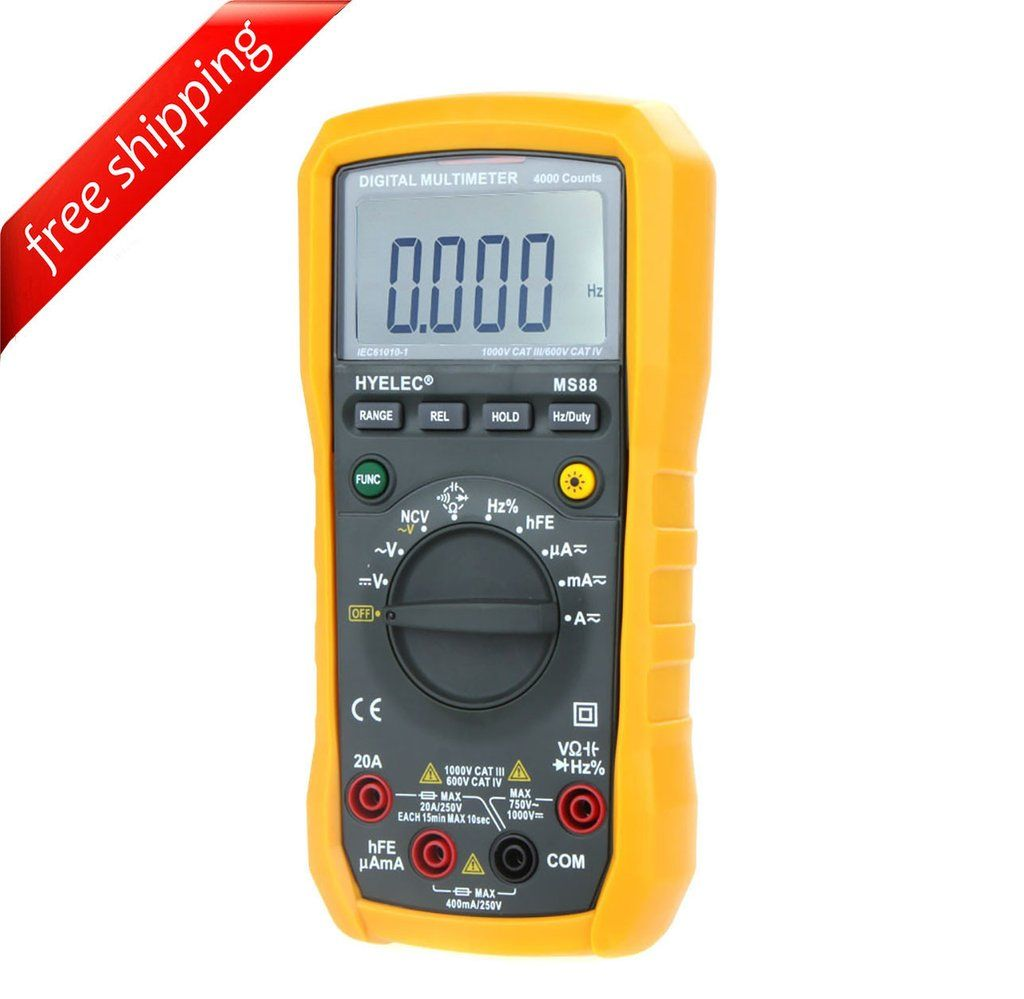 HYELEC MS88 Multifunction Digital Multimeter/Auto and Manual Range/Frequency/Relative