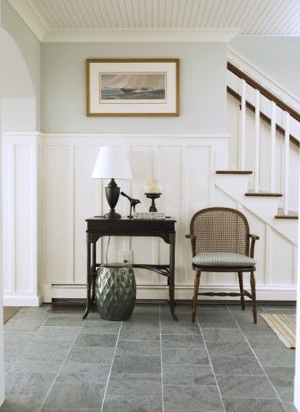 Wainscoting Board And Batten Entryway Beadboard Ceiling