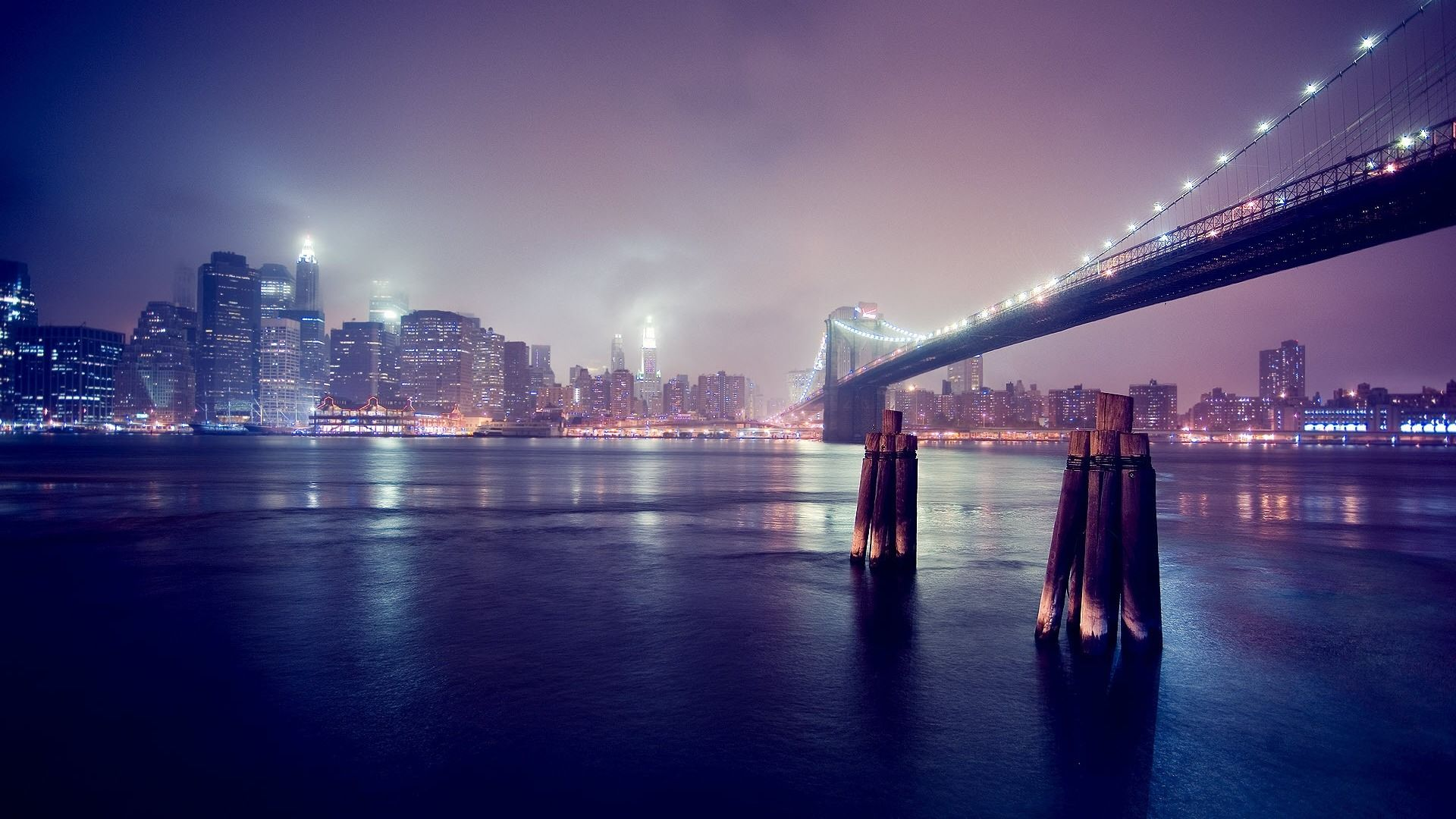 Beautiful City At Night Photography Desktop Wallpaper 1920x1080 Wallpaper Download Bridge Wallpaper Night Skyline Night City