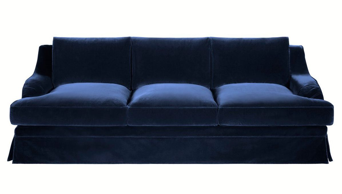paris brocante large beautiful navy blue velvet sofa 700 euros inside library blue velvet. Black Bedroom Furniture Sets. Home Design Ideas