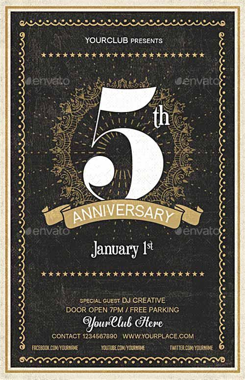 Anniversary Party Flyer Template -   ffflyer/anniversary