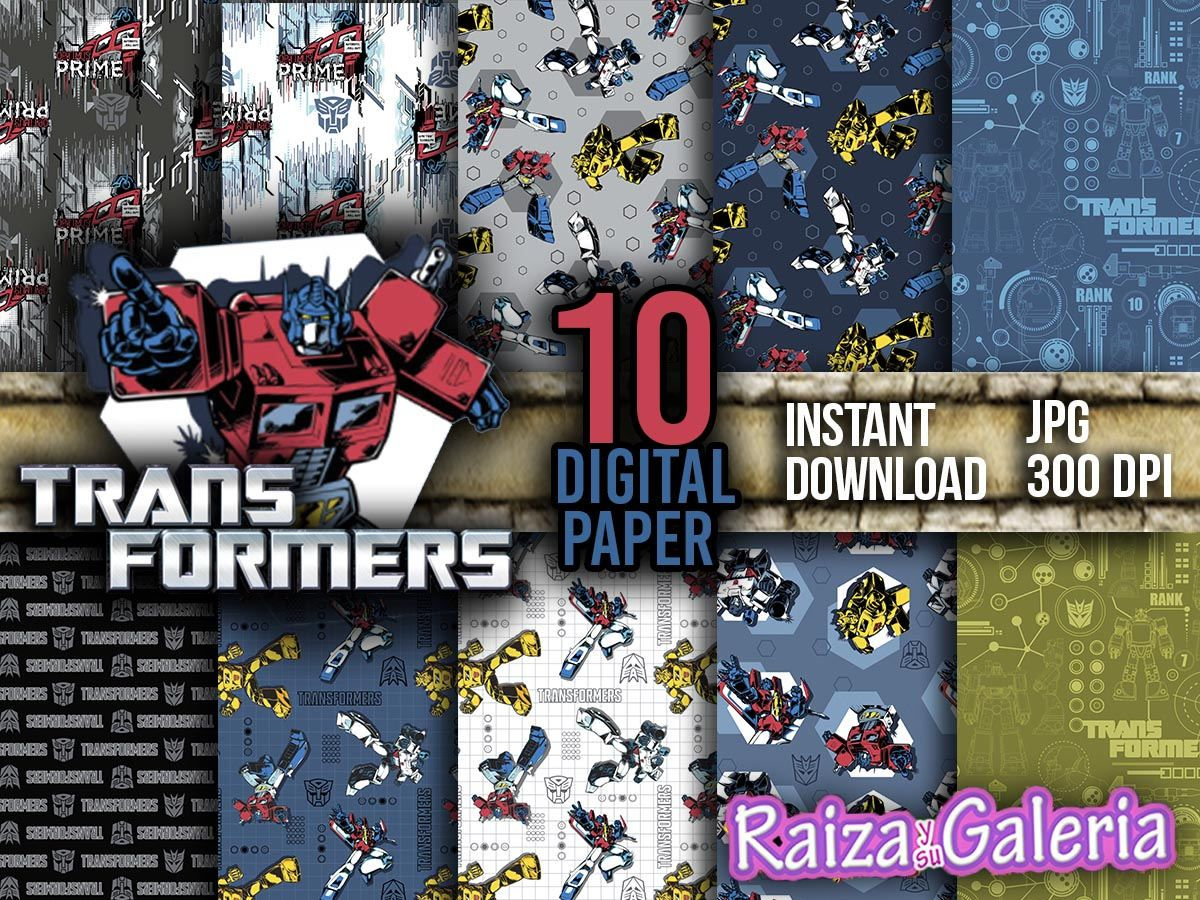 Awesome Transformers Digital Paper Instant Download S Bo Ng Optimus Prime Transformers Printable Paper By Raizaysugaleria On Etsy