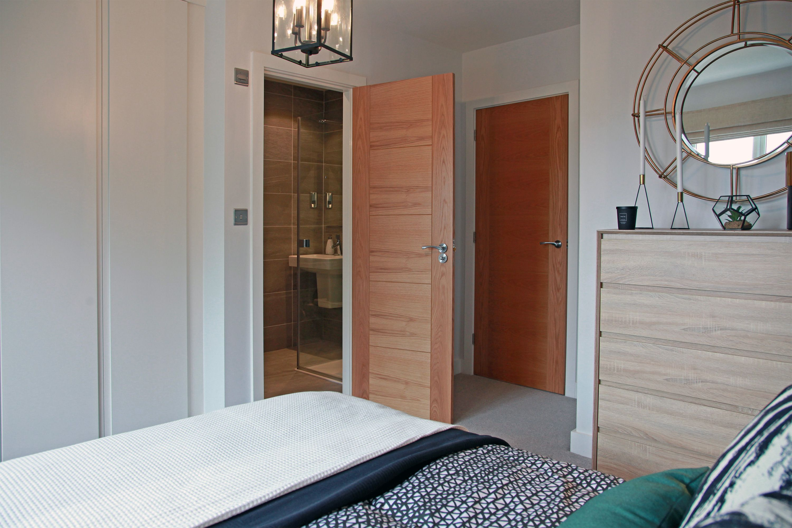 Master bedroom ensuite design  The master bedroom at Swaine Meadows leads into its own private