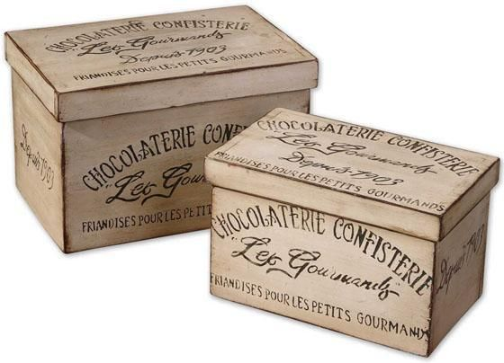 Chocolaterie Boxes   Set Of 2   Decorative Boxes   Home Accents   Home  Decor |