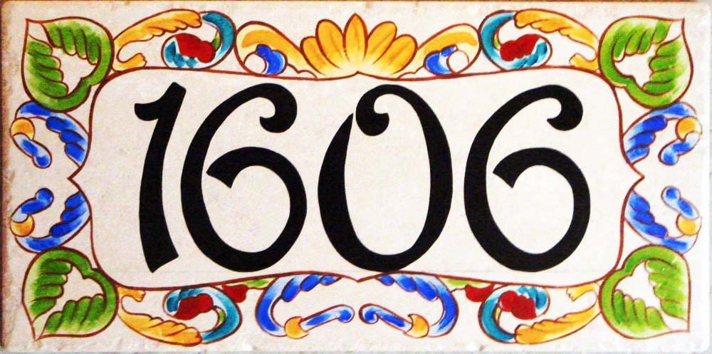 decorative tile house numbers - Decorative House Numbers