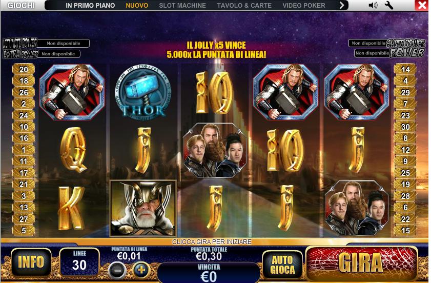 Giochi gratis slot machine ulisse