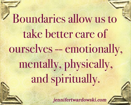 Having and setting boundaries is so important in self care You - self care assessment