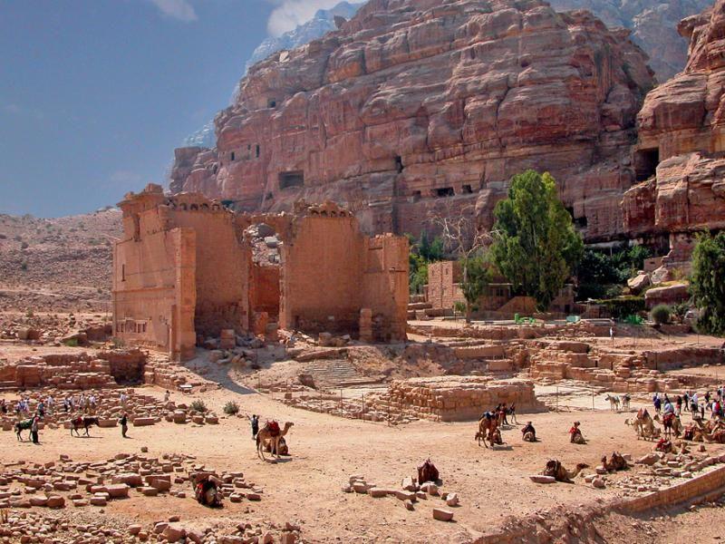 Dushares tempel in petra bron archer10 dennis flicrk