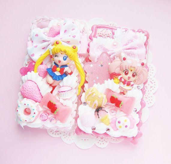 new product dab2d 245c2 CUSTOM MADE - Sailor Moon Kawaii Whipped Cream Decoden Case. £35.00 ...