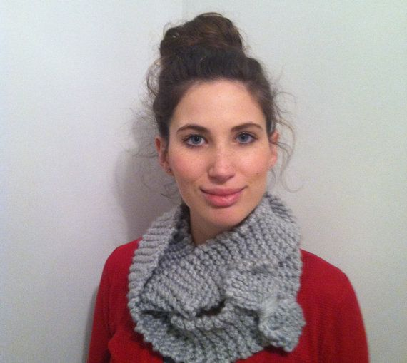 Chunky Bow Infinity Scarf by KnittingGears on Etsy, $25.00