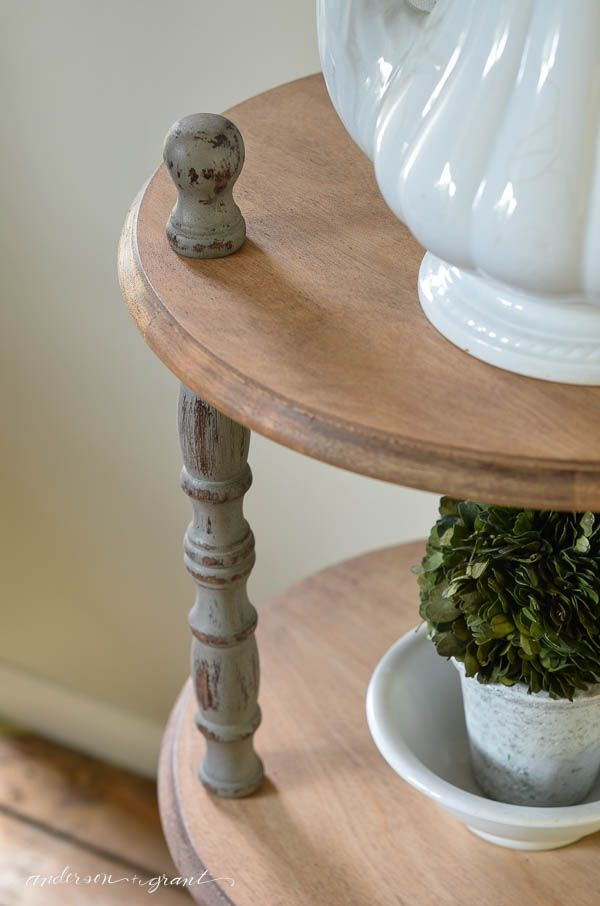 Industrial Farmhouse Three Shelf Table {anderson + grant}