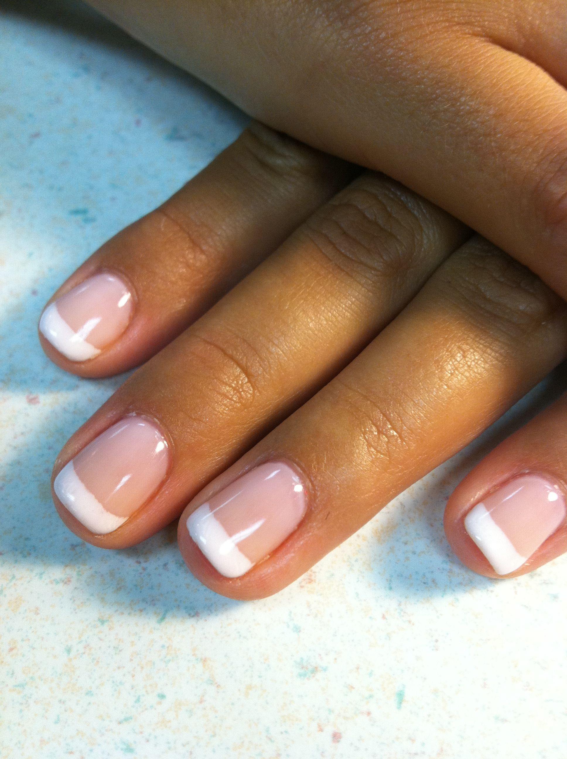 Te Amo French Manicure I Used Opi S Gel Polishes Bubble Bath