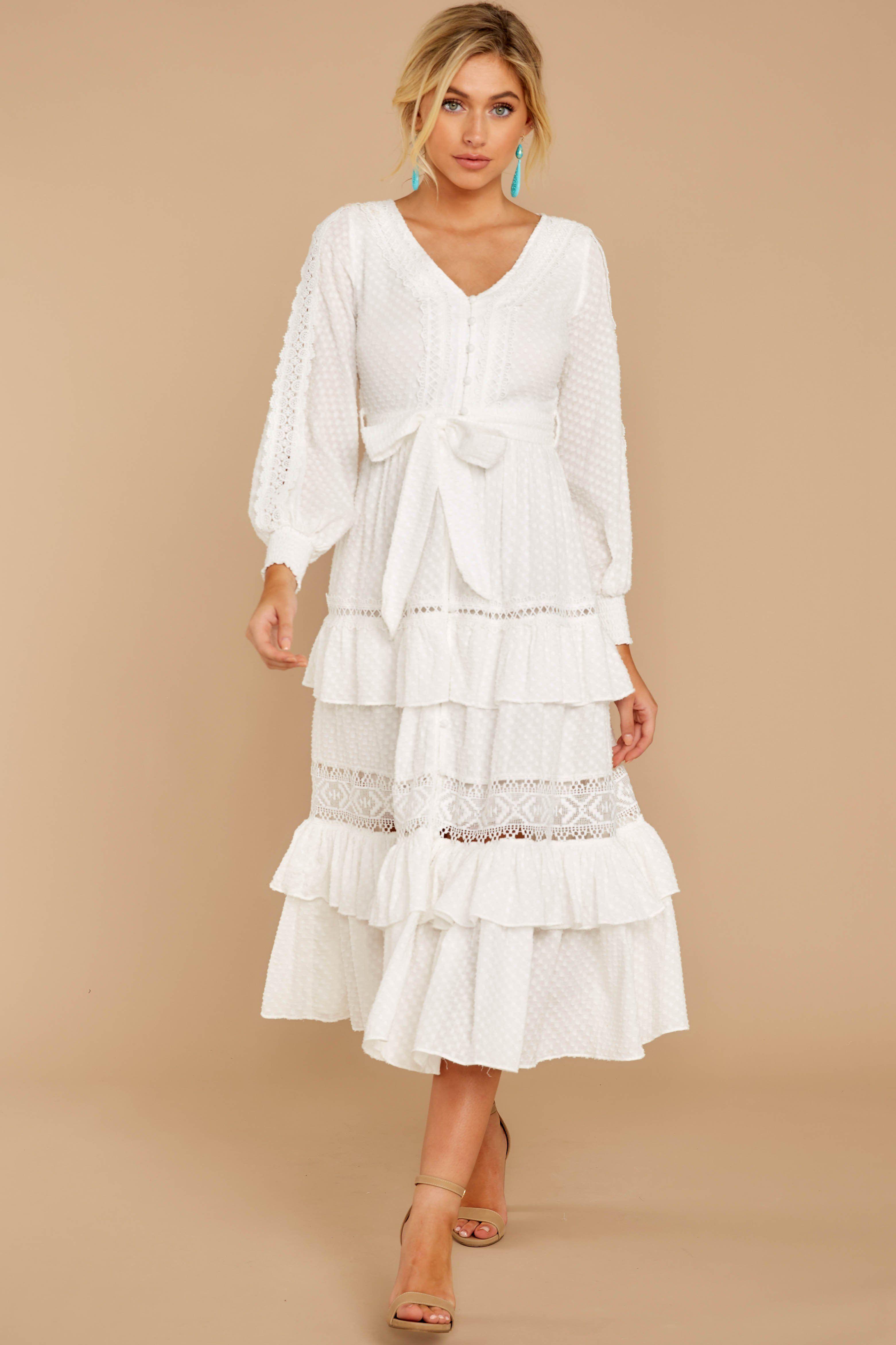 One Day Soon White Lace Midi Dress White Lace Midi Dress White Lace Maxi Dress Informal Dress [ 4683 x 3122 Pixel ]