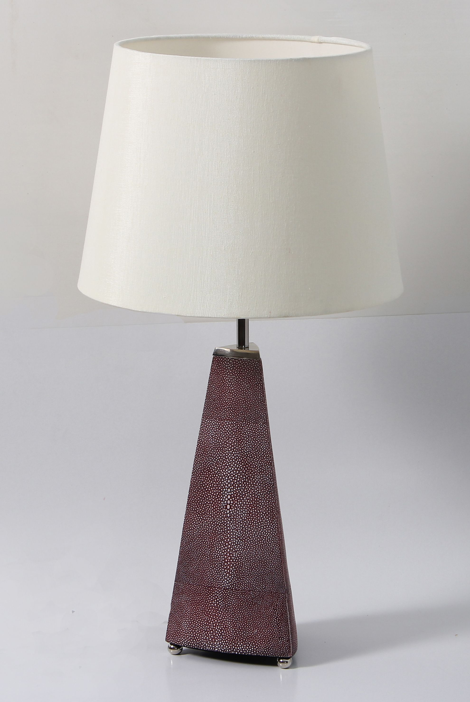A simple but elegant table lamp bedside lamp made with stainless a simple but elegant table lamp bedside lamp made with stainless steel and faux mulberry geotapseo Choice Image