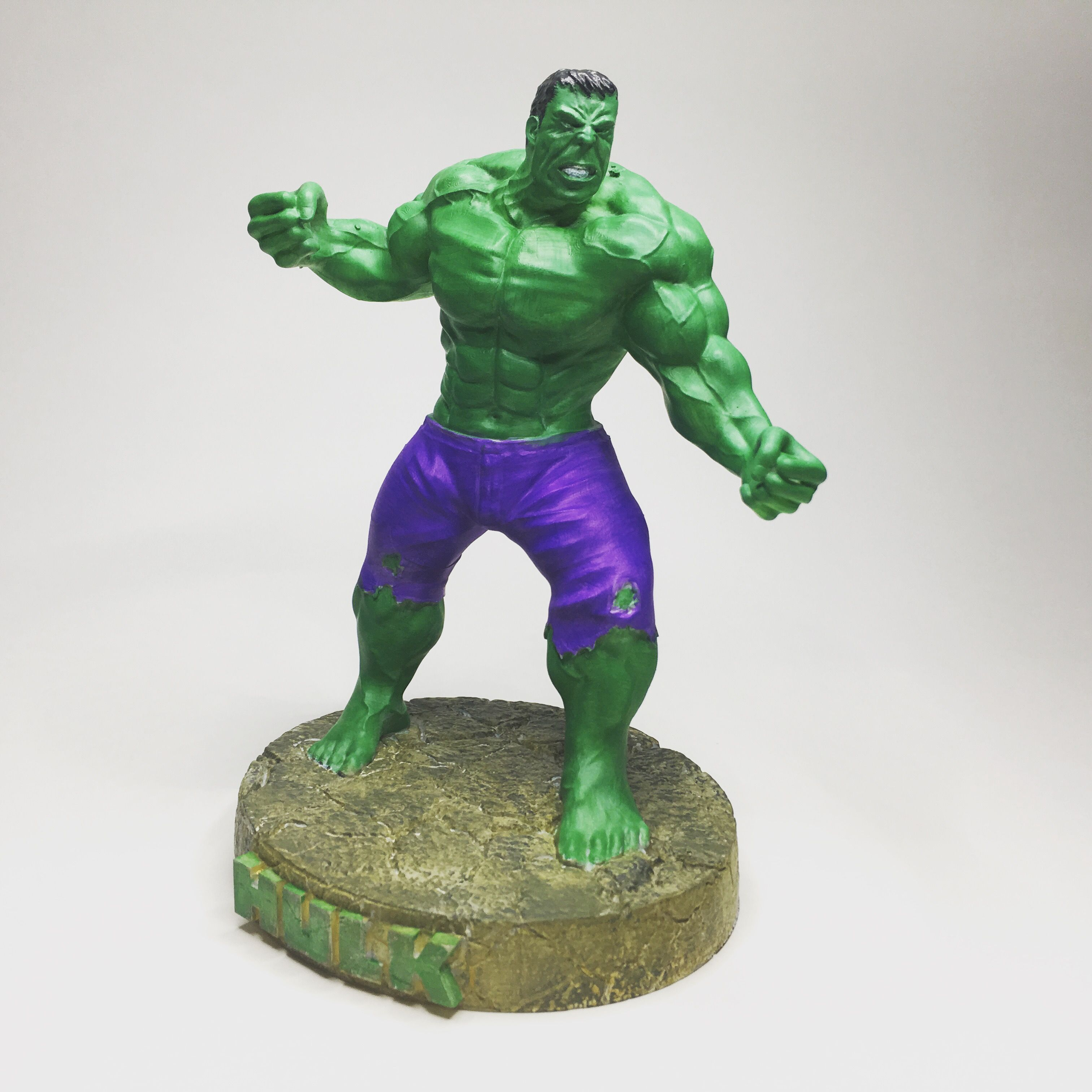 The Hulk 3d Printable available for download at https://www ...