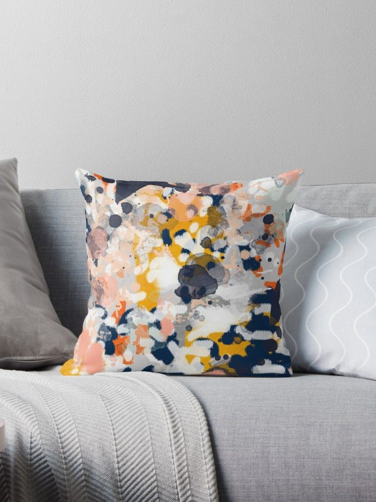 'Stella - Abstract painting in modern fresh colors navy ...