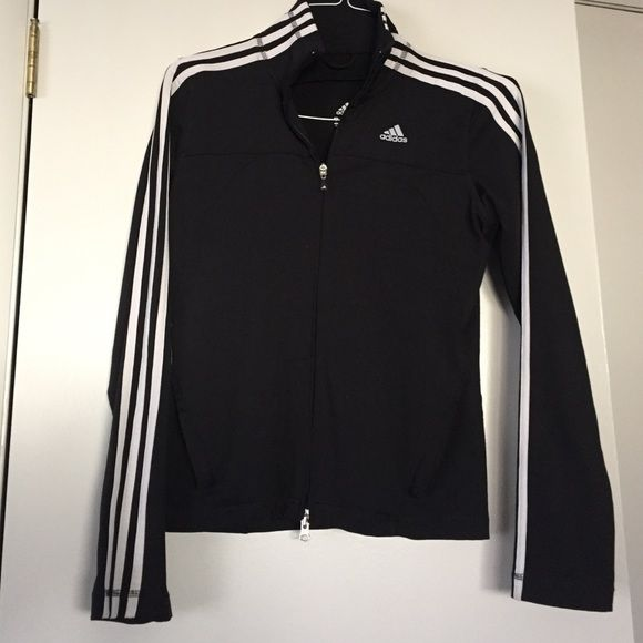 Adidas track suit top Great condition adidas track suit top.  Has hidden zip pocket inside and two outside zipped pockets.  All zippers fully functional. Adidas Tops Sweatshirts & Hoodies
