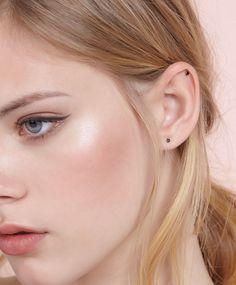 Boucles d'oreilles pierre plaqué or - OYSHO