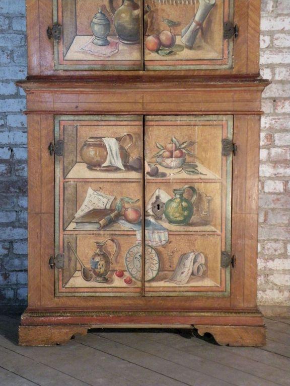 Italian Trompe L Oeil Painted Cabinet 1stdibs Com Painting Cabinets Painted Table Painted Furniture