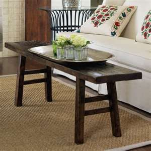 Beau Bench As A Small Coffee Table...likey.