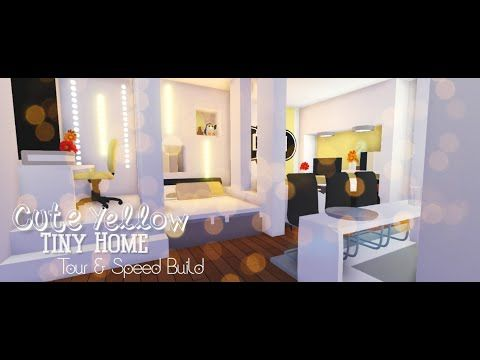 Cute Yellow Tiny Home Tour And Speed Build Roblox Adopt Me Youtube In 2020 Home Roblox Tiny House Design Cute Room Ideas