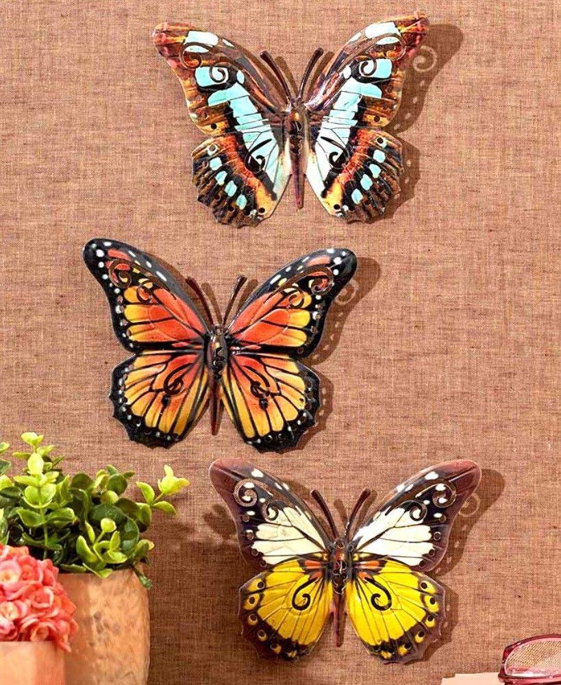 Set of 10 Butterfly Fence Wall Art Garden Yard Home Decor Outdoor