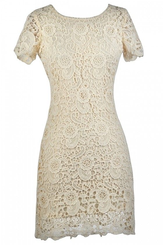 d5d2a0c0e8 Beige Lace Rehearsal Dinner Dress