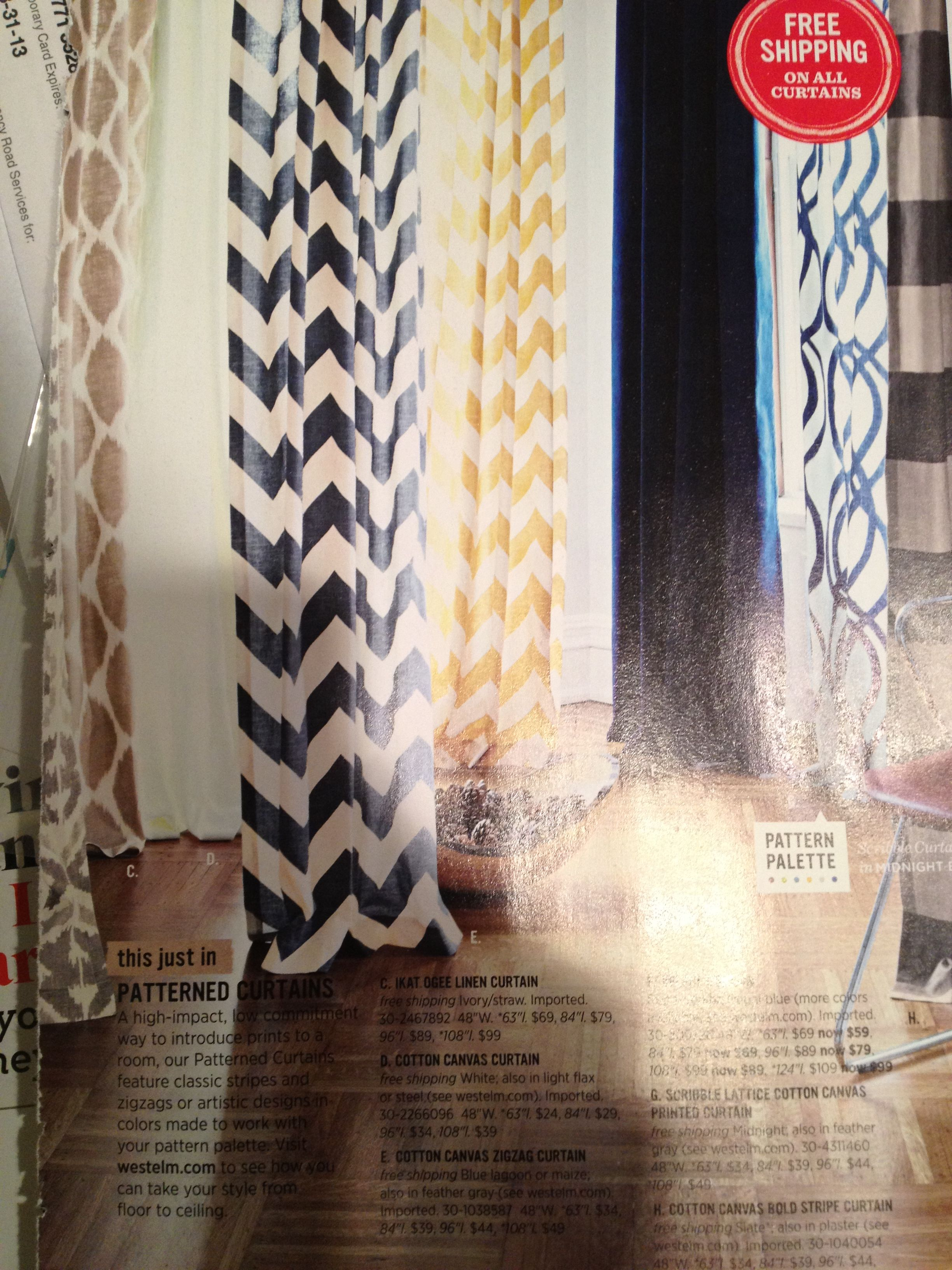 Love The Yellow Chevron Curtains West Elm Chevron Curtains Canvas Curtains Curtain Patterns