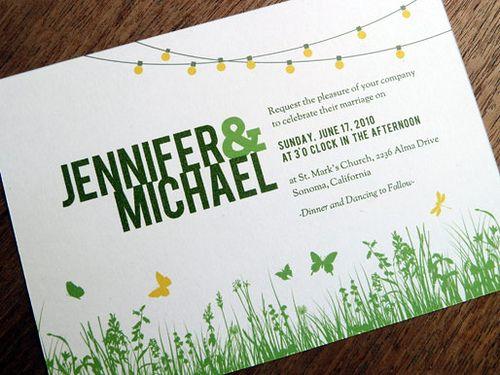 garden wedding invitations – fleeciness, Wedding invitations