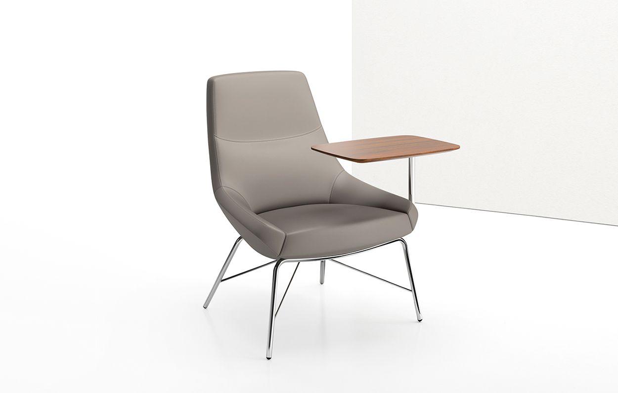 Terrific Bing Mid Back Work Lounge Chair Tablet Arm Tubular Base Inzonedesignstudio Interior Chair Design Inzonedesignstudiocom