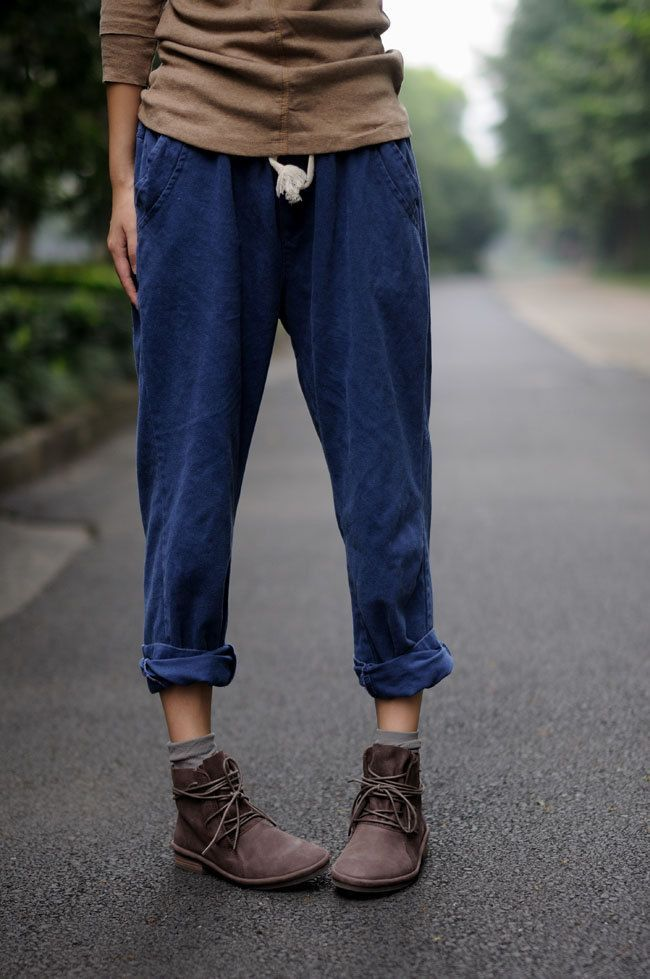 Matching Loose Fit pants with desert boots  3ccab602857