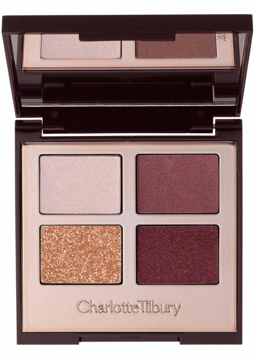 This product is part of the Holy Grail, the quest for eternal beauty. Join the journey Charlotte Tilbury has de-coded the secrets to iconic, mesmerising eyes with her Colour-Coded Eye Shadow Palettes. Each one contains four harmonious colour ways that offer a complete desk to disco eye colour wardrobe that is easy to use.