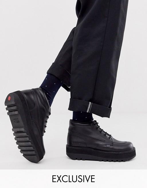 Kickers hi stack platform boots in