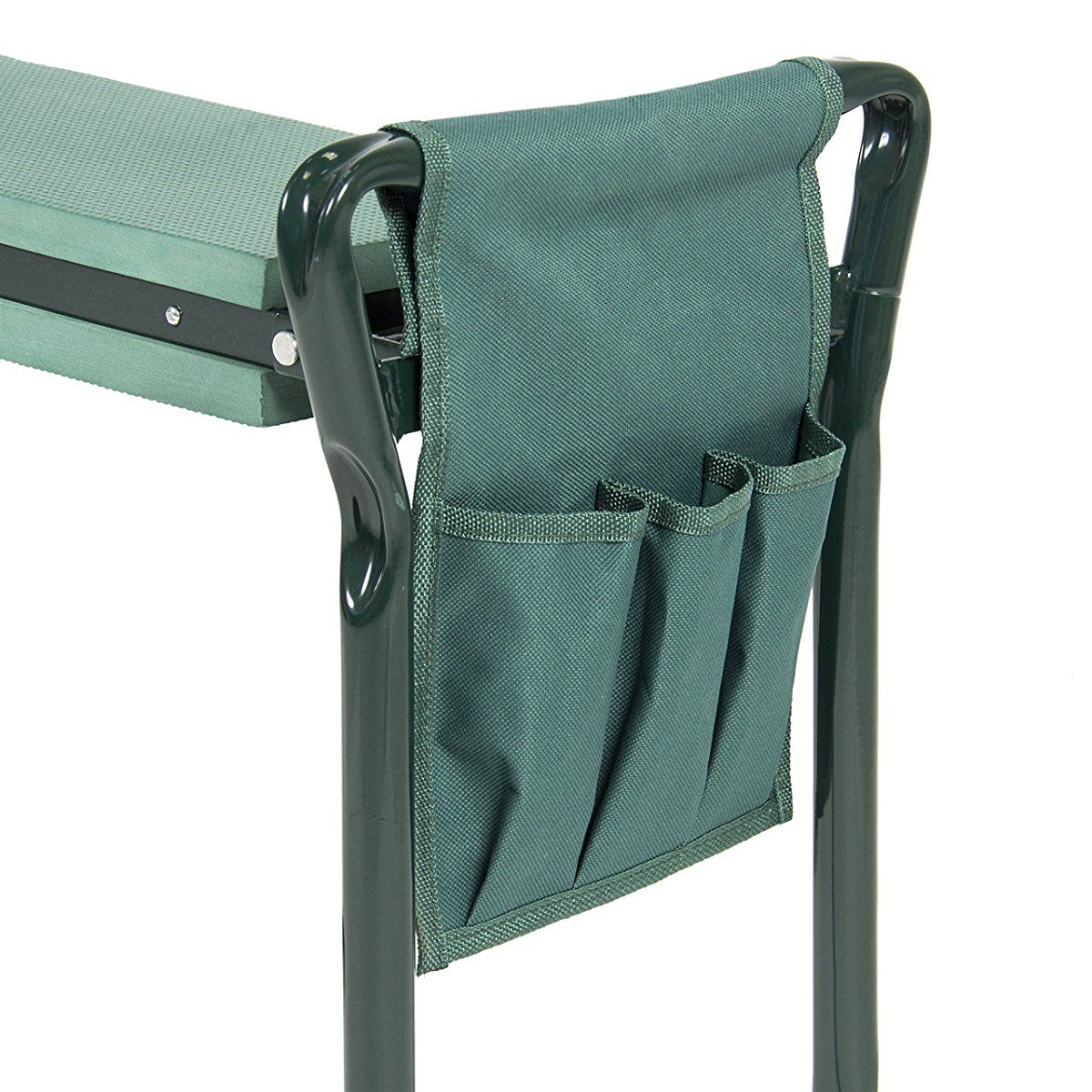 Foldable Kneeler Garden Bench Stool Cushion Seat Pad Kneeling Tool Pouch Bags