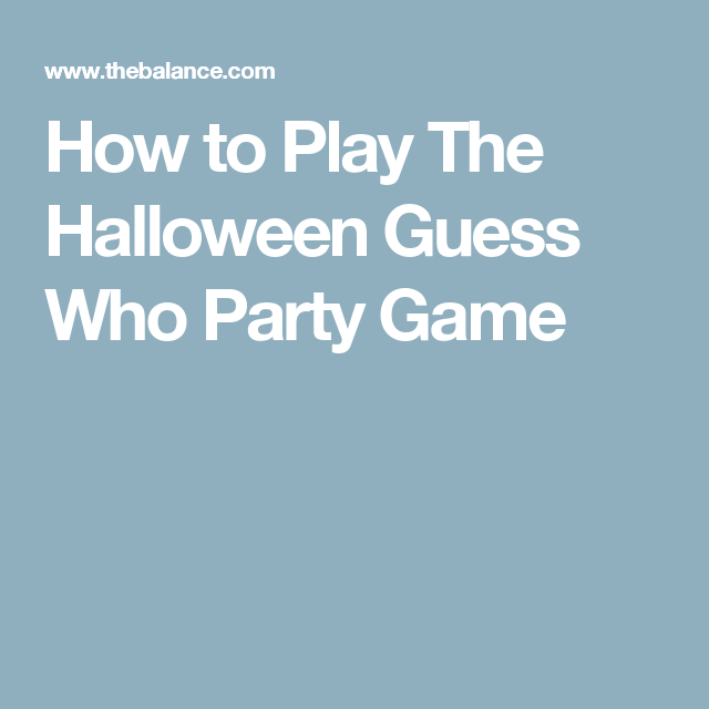 Play The Halloween Guess Who Game At Your Next Halloween Party