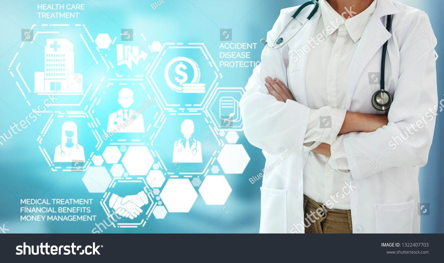 Medical Healthcare Concept Doctor In Hospital With Digital