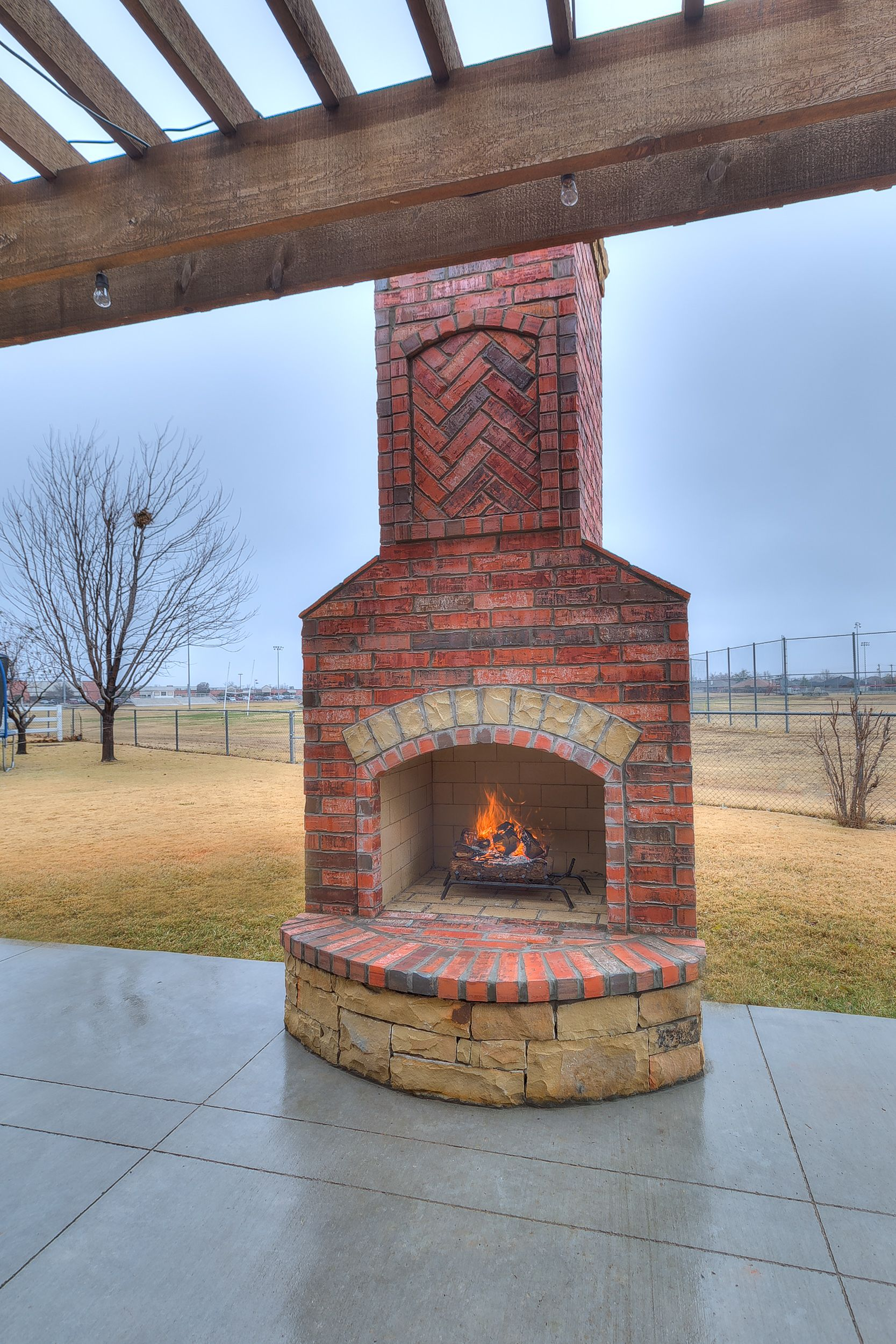 Fireplace by PMHOKC.com on Custom Outdoor Fireplaces ... on Simple Outdoor Brick Fireplace id=45581