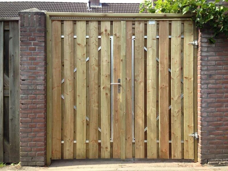 Betere Zelf poort maken   Garden fencing, Back gardens, Outdoor structures RR-66