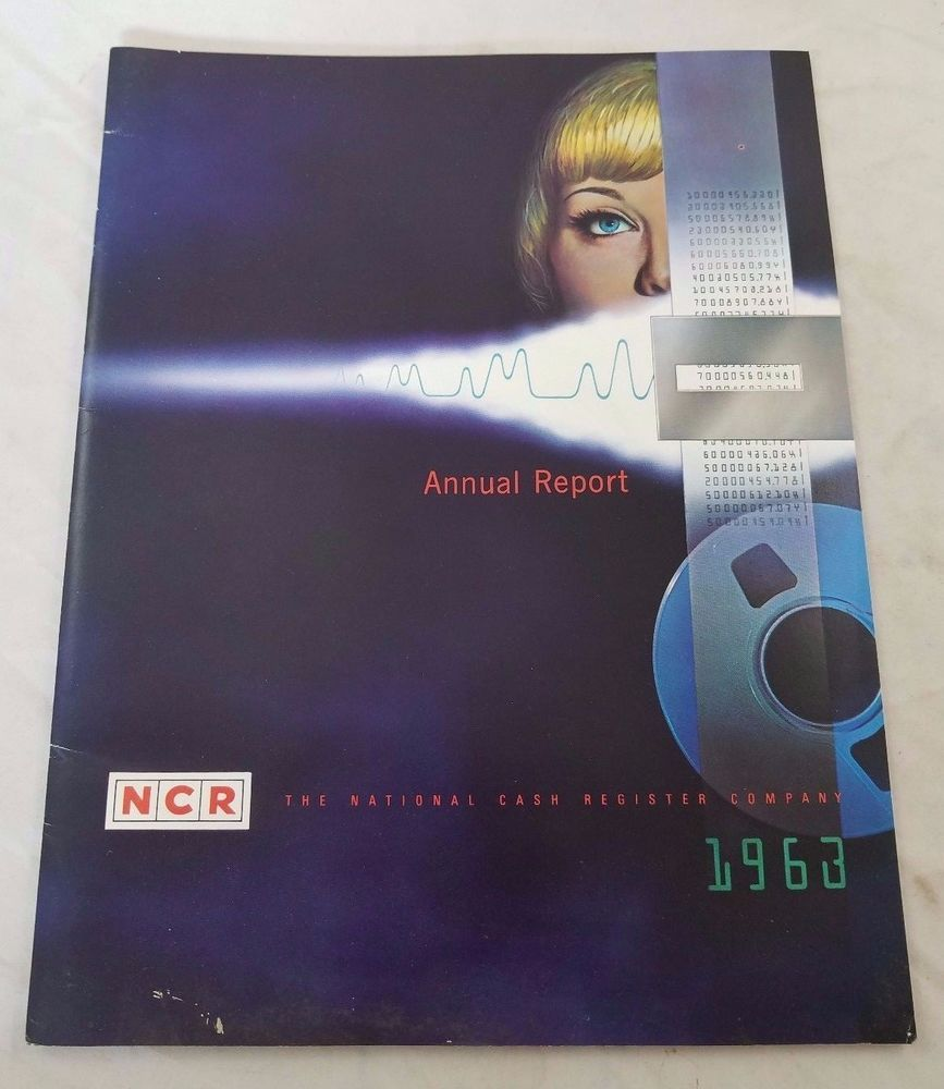 Vintage 1963 Ncr The National Cash Register Company Annual Report