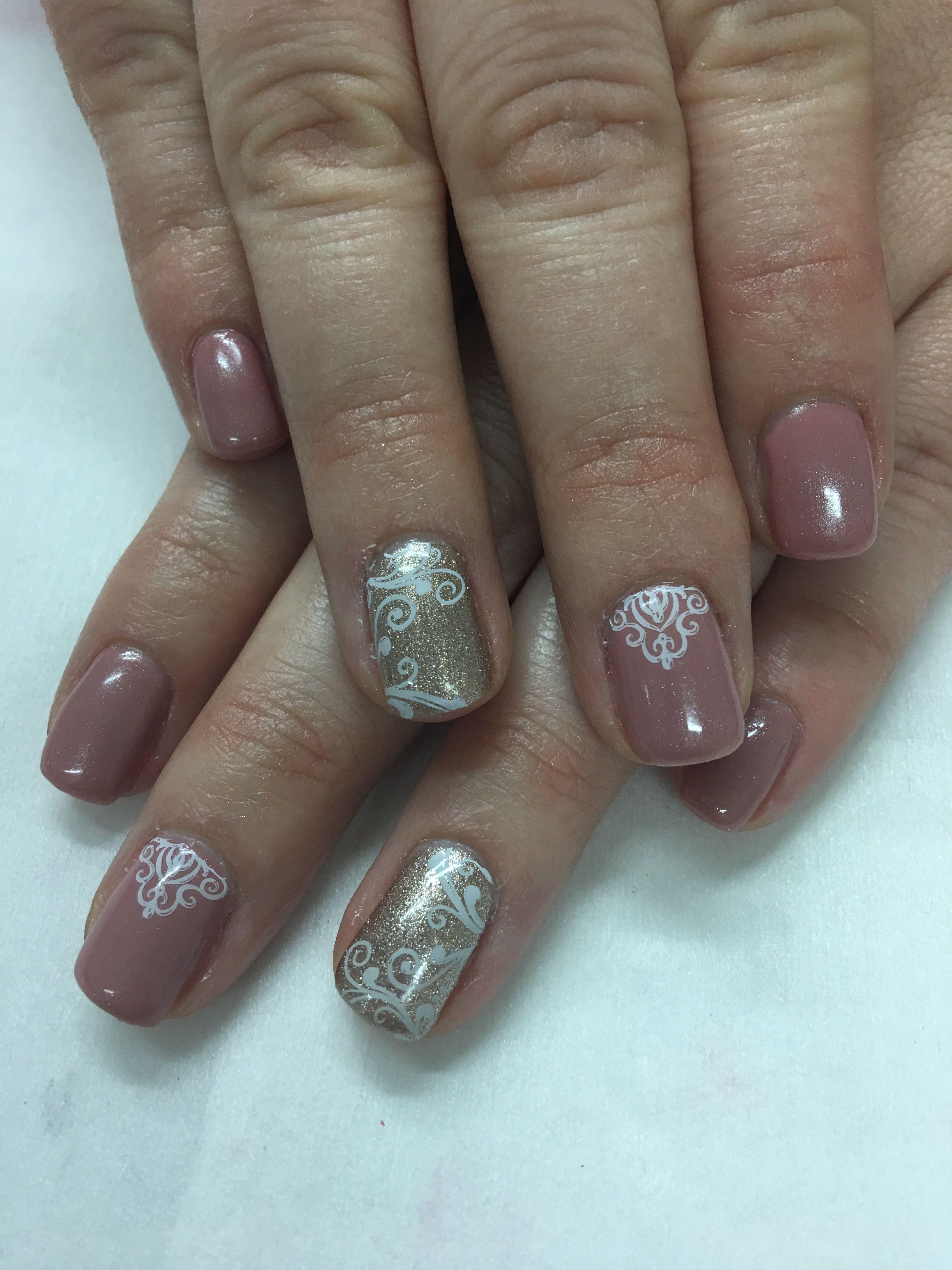 Mauve elegant swirl Gel Nails   Gel Nail designs   Pinterest