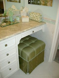 Custom Vanity Tuffet by Jane Gianarelli