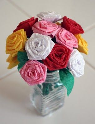 Learn how to make roses out of crepe paper get excited and make learn how to make roses out of crepe paper mightylinksfo