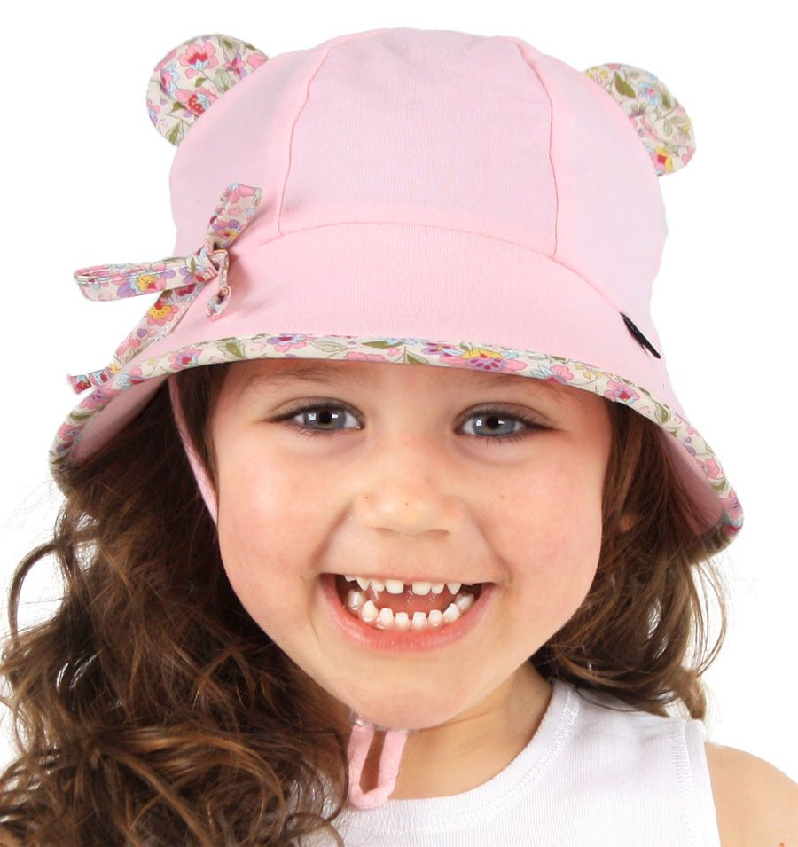 Bedhead Hats -Baby Bucket Hat with Strap - Blush