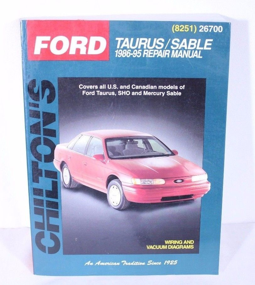 Chilton S Ford Taurus Sable 1986 95 Repair Manual 8251 26700