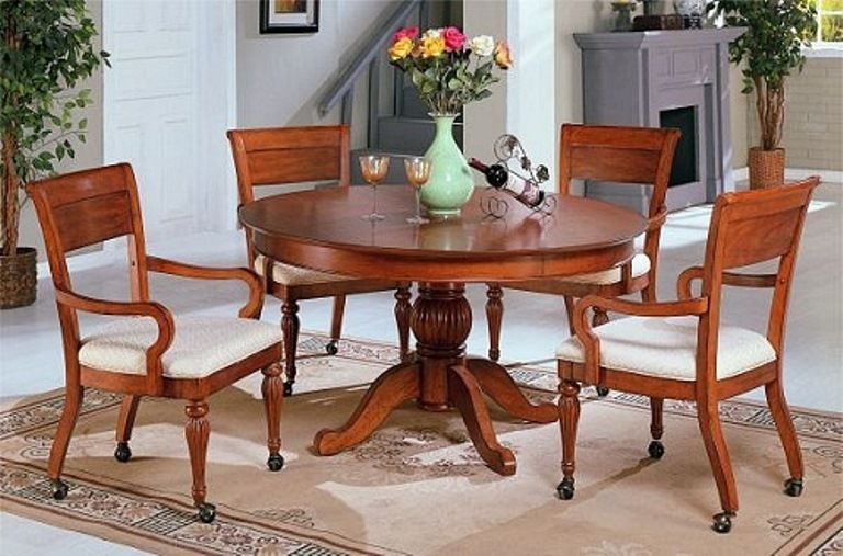 Dining room chairs with wheels decor ideas dining room